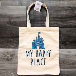 Disney Parks My Happy Place Castle Tote Bag